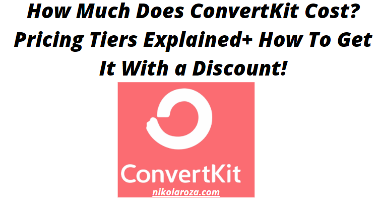 ConvertKit pricing- what does it cost?