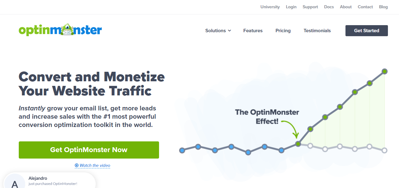 OptinMonster is the best optin form builder on the market