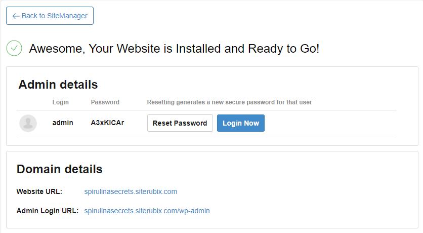 Site Finished SiteRubix