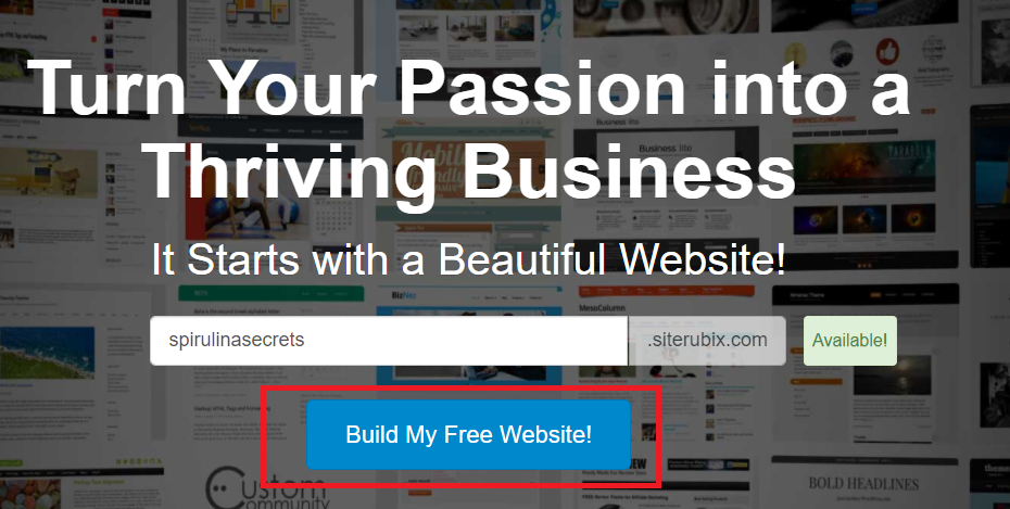 Create a free website with SiteRubix