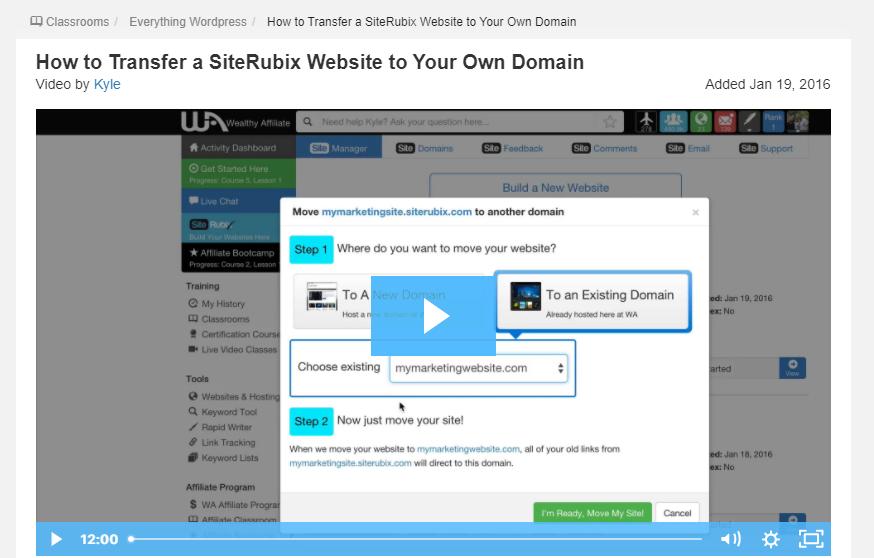 Move SiteRubix website to WordPress
