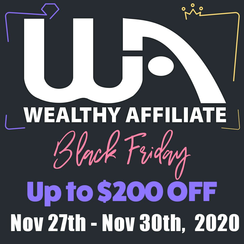 Wealthy Affiliate Black Friday Deal and Sale 2020