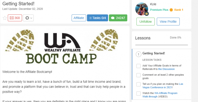 What is Wealthy Affiliate Bootcamp