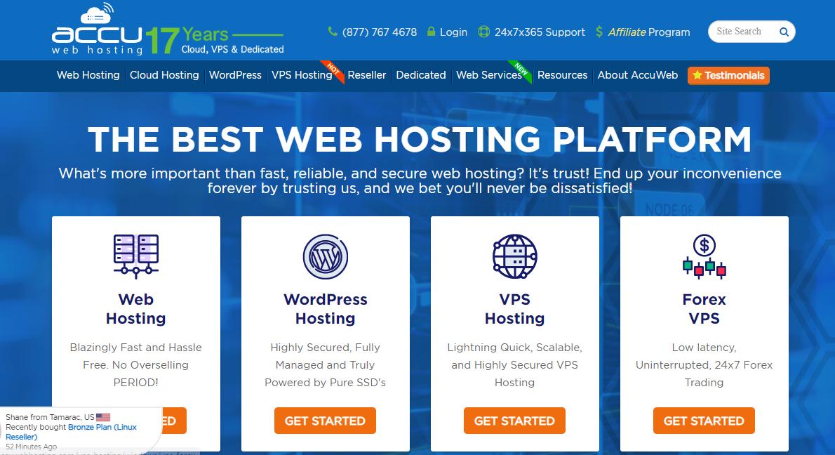 AccuWeb hosting free trial