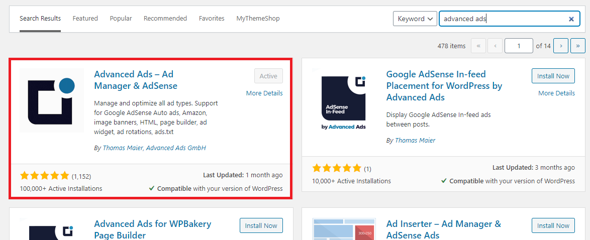 Advanced Ads WordPress plugin