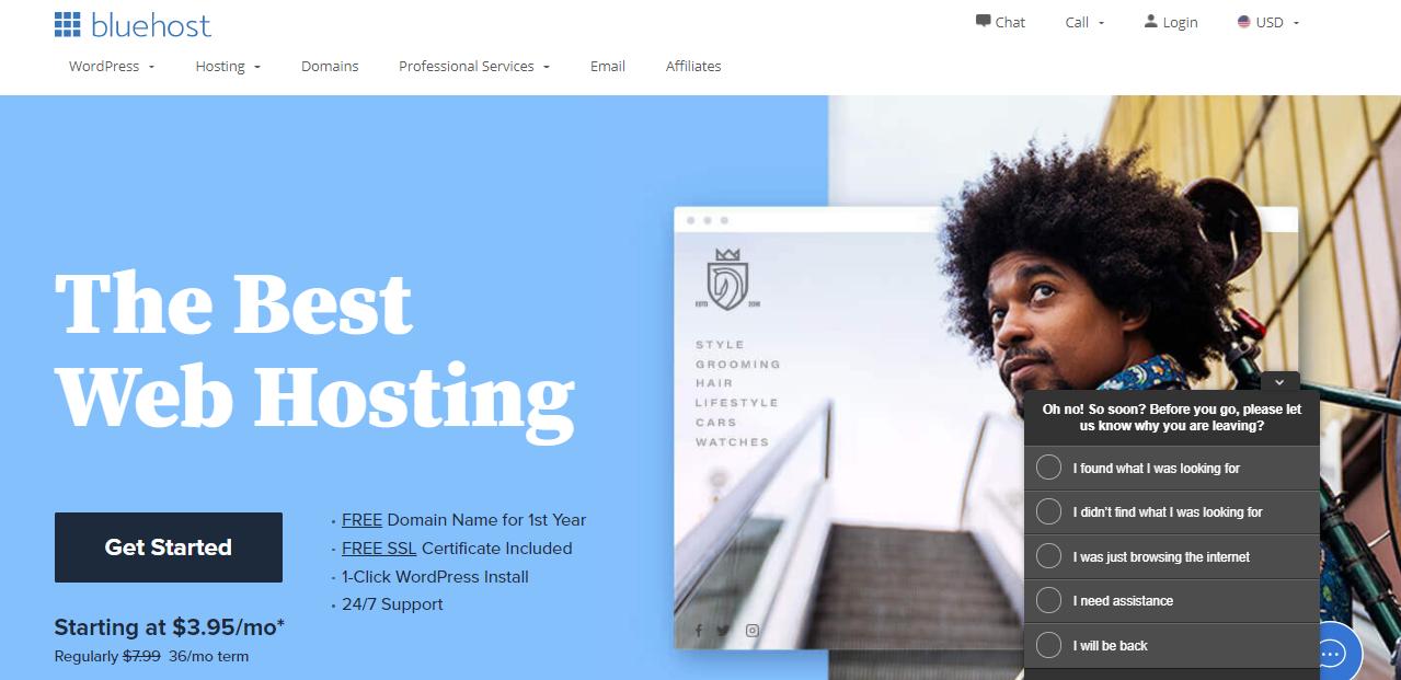 Bluehost offer WordPress hosting