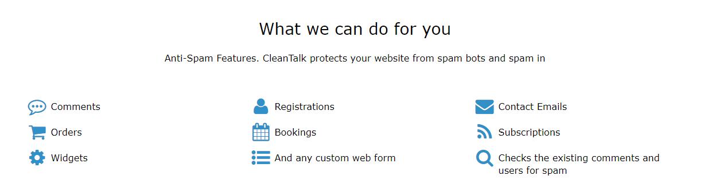 CleanTalk features
