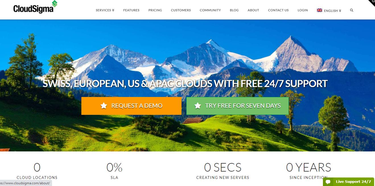 Cloud Sigma cloud hosting free trial