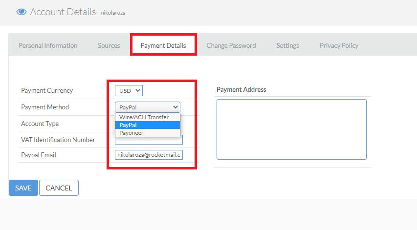 Fiverr affiliate payment methods