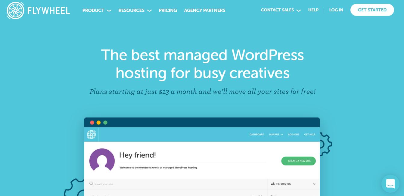 Flywheel managed WordPress hosting free trial