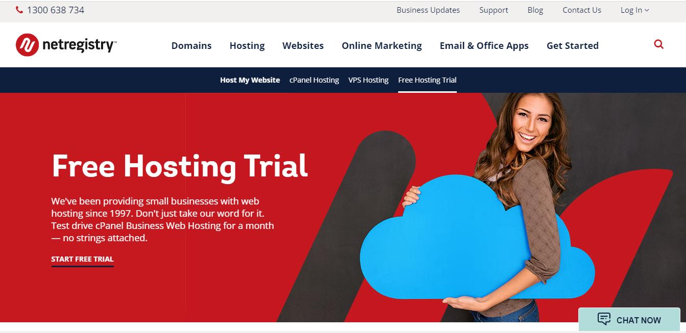 Netregistry cPanel Web Hosting Free Trial