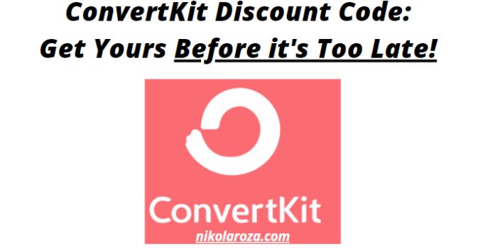 ConvertKit discount code