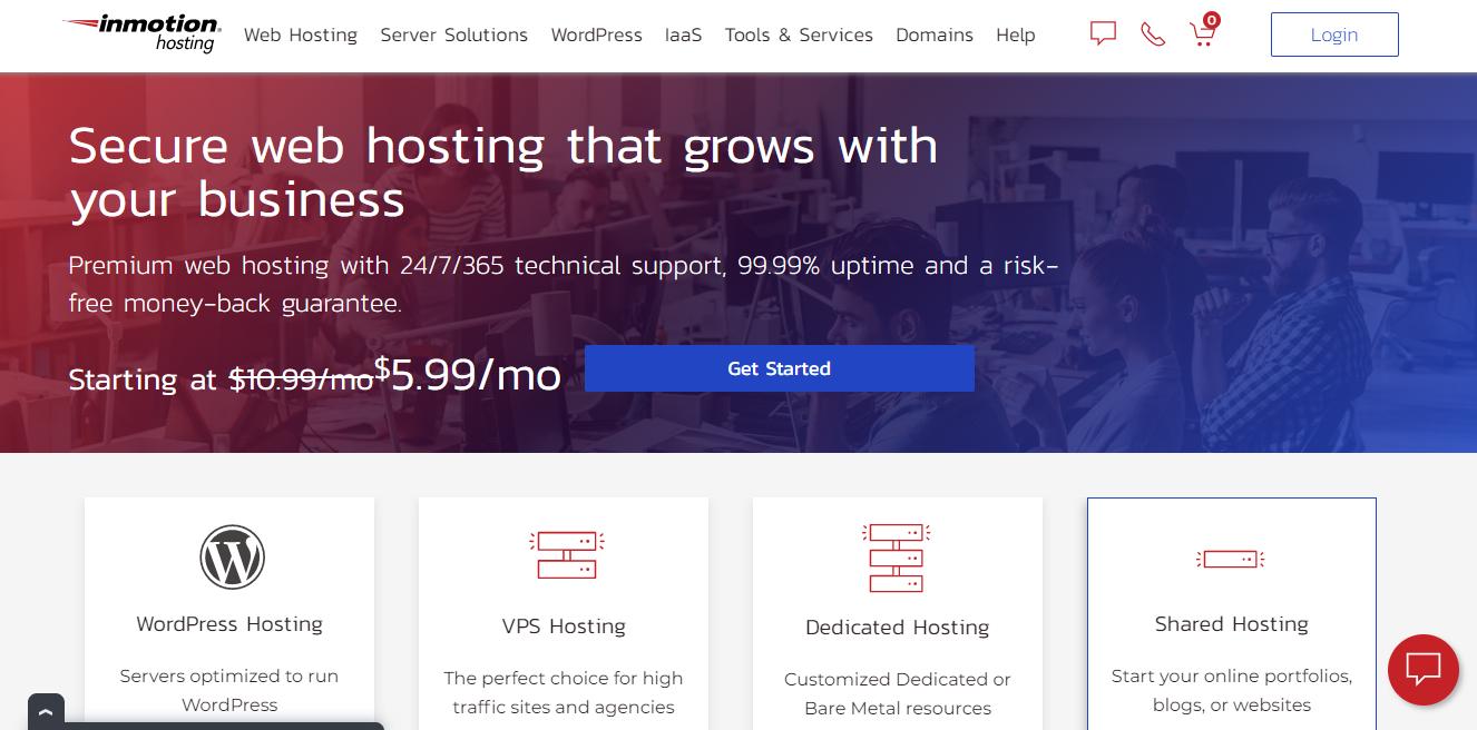 Inmotion hostin offer SSD storage