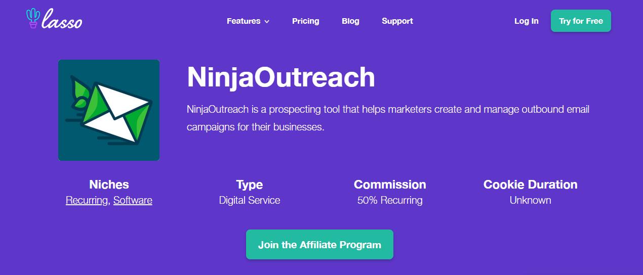 Ninja outreach affiliate program