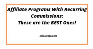 recurring affiliate programs