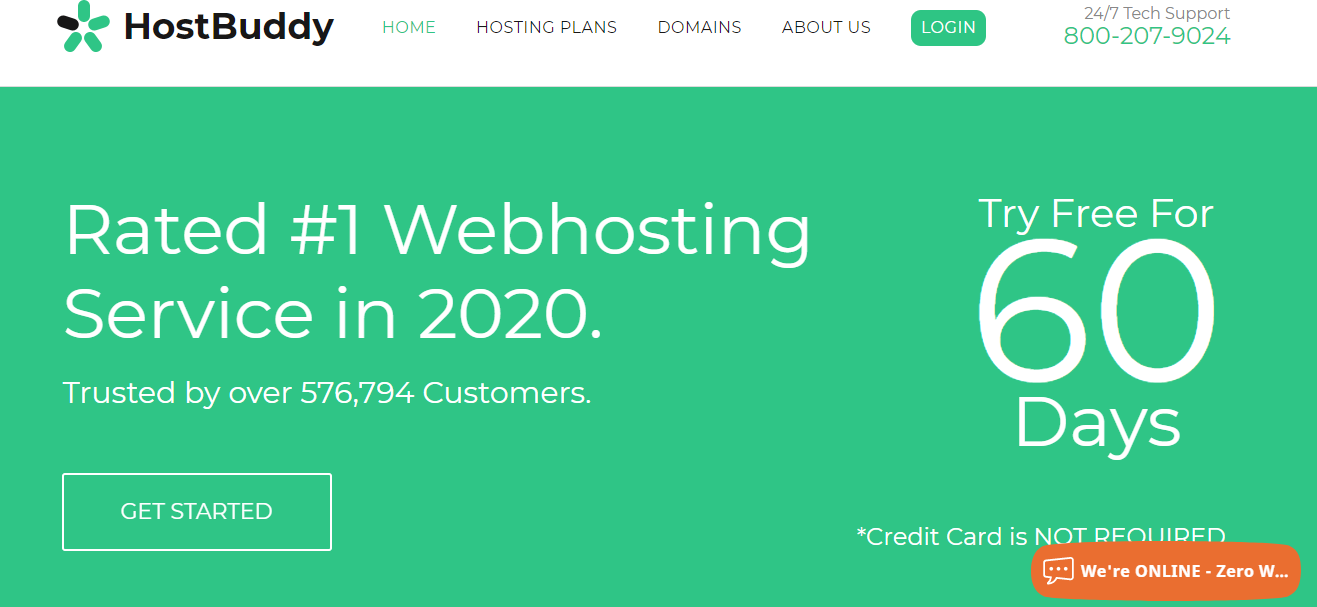 HostBuddy web hosting free trial no credit card