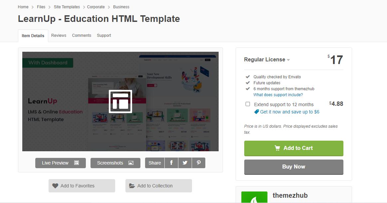 LearnUp theme for teacher blogs