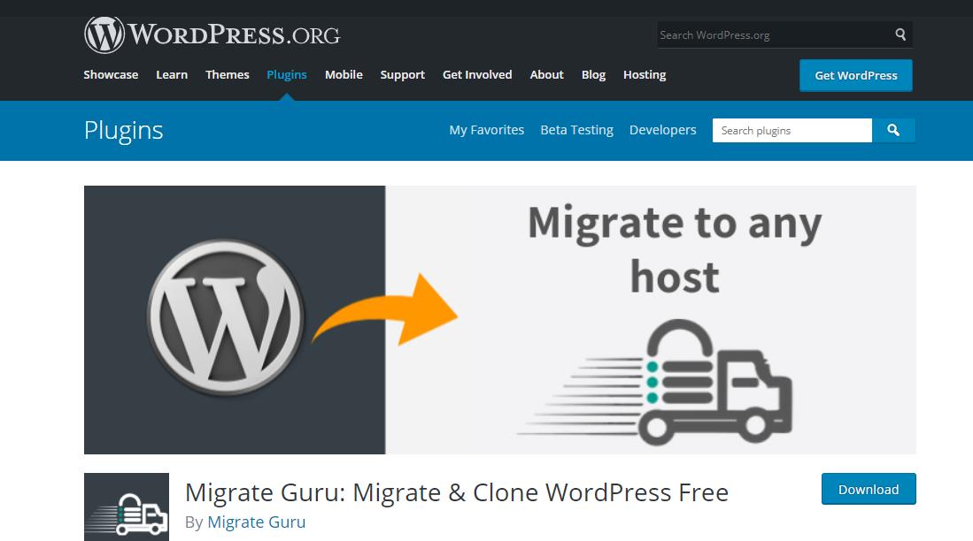 MigrateGuru migration plugin