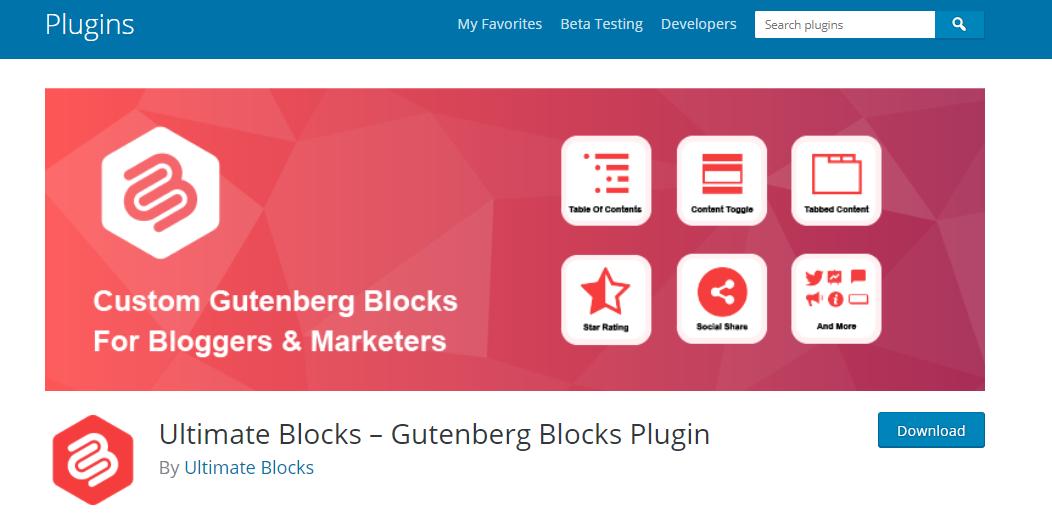 Ultimate Blocks plugin
