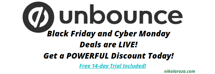 Unbounce Black Friday