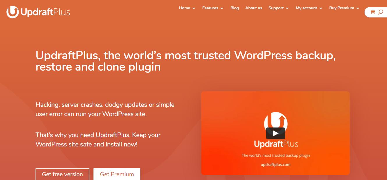 UpdraftPlus site migration plugin