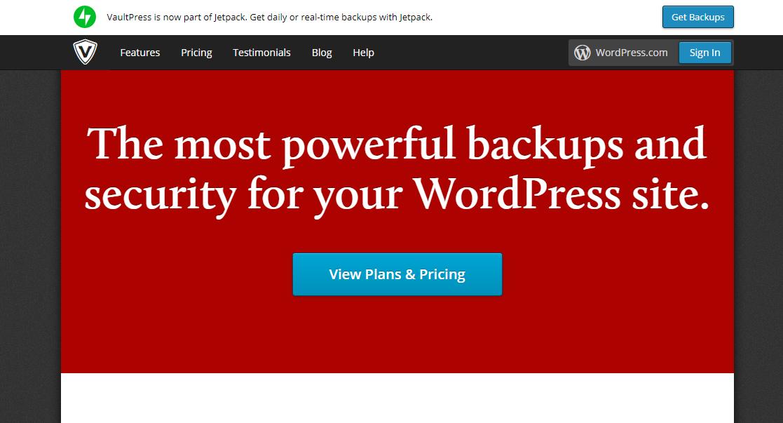 VaultPress backup plugin