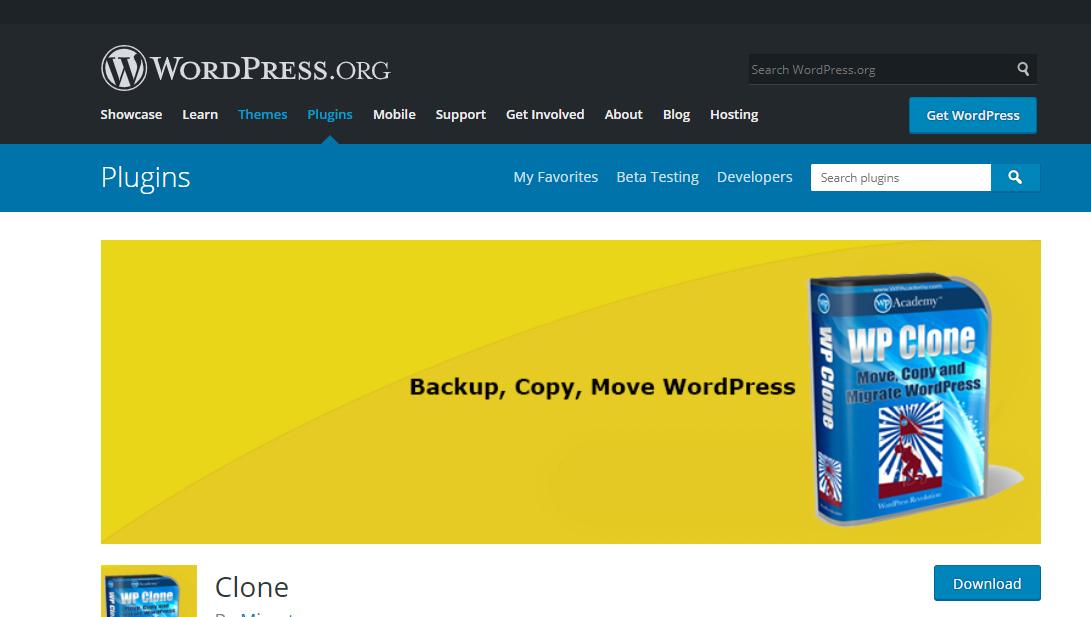 WP Clone site migration plugin