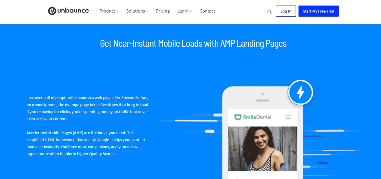 Unbounce AMP landing pages