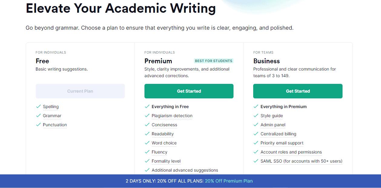Buy Grammarly Premium plan
