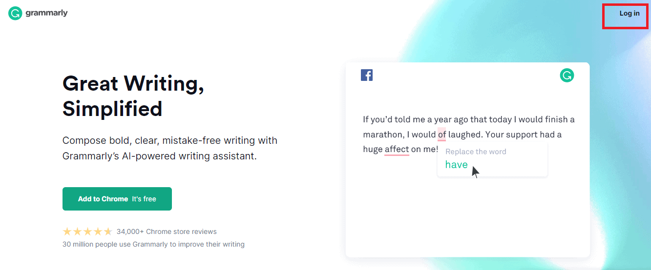Grammarly log in