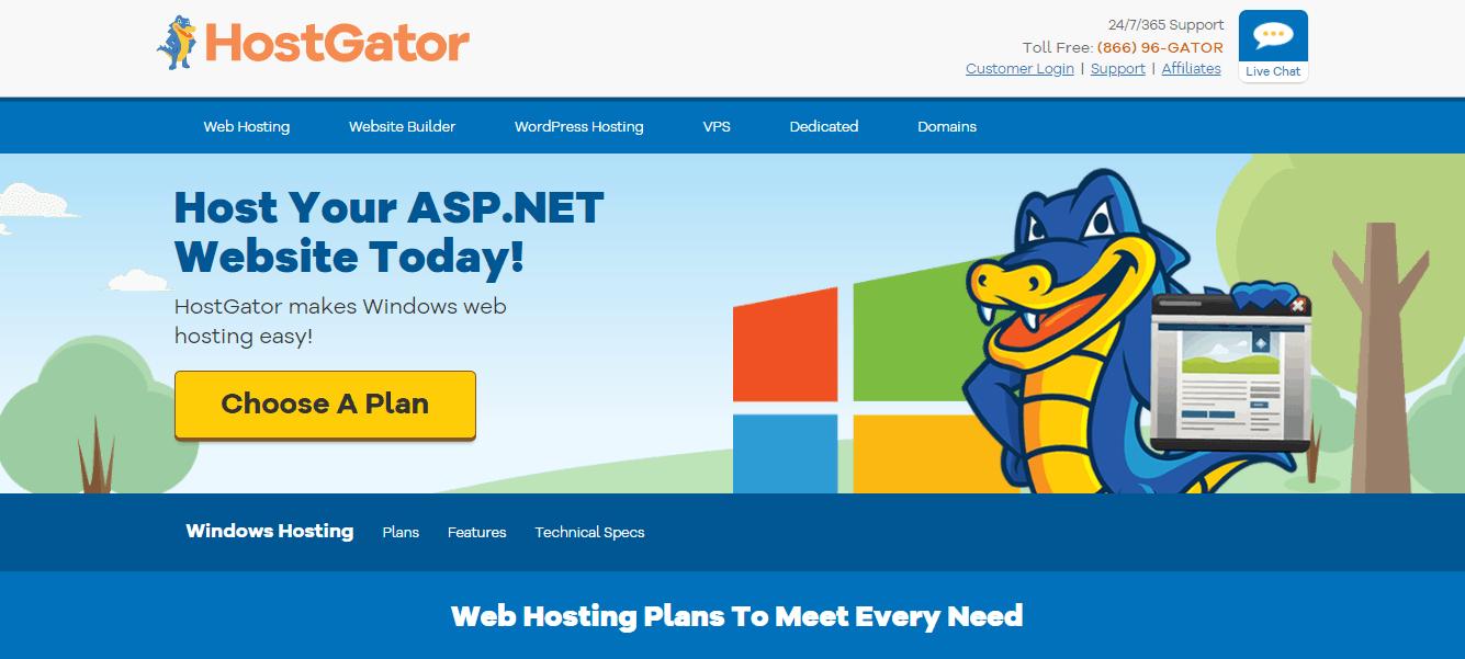 HostGator windows hosting free trial