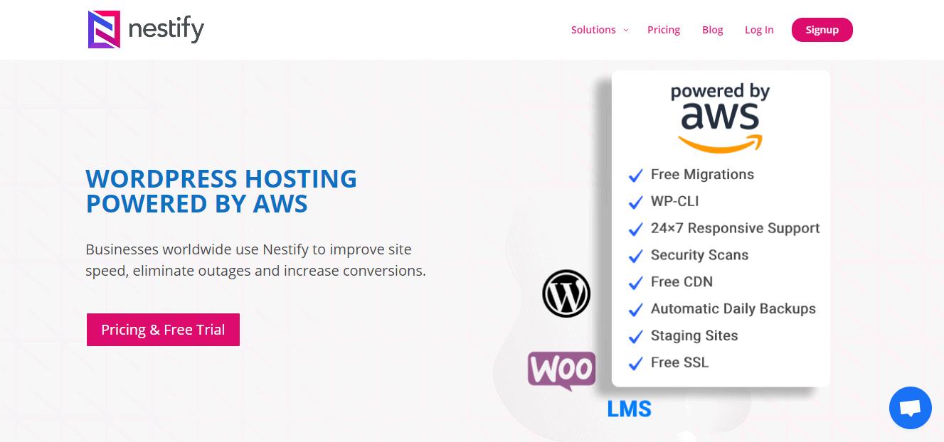 Nestify homepage