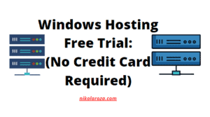 Windows hosting free trial no credit card