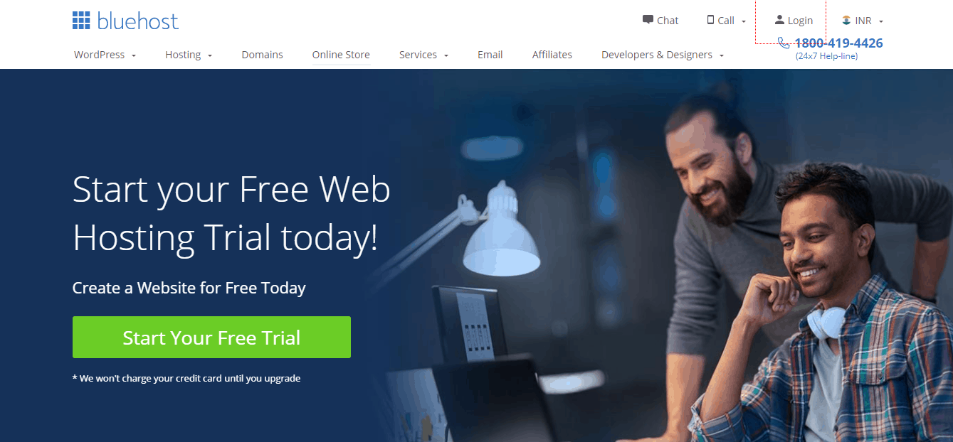 Bluehost free trial India
