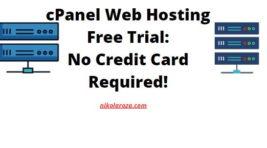 cPanel web hosting free trial no credit card