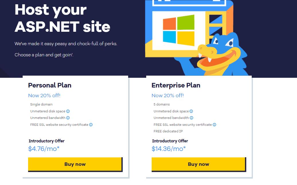 HostGator Windows hosting free trial offers
