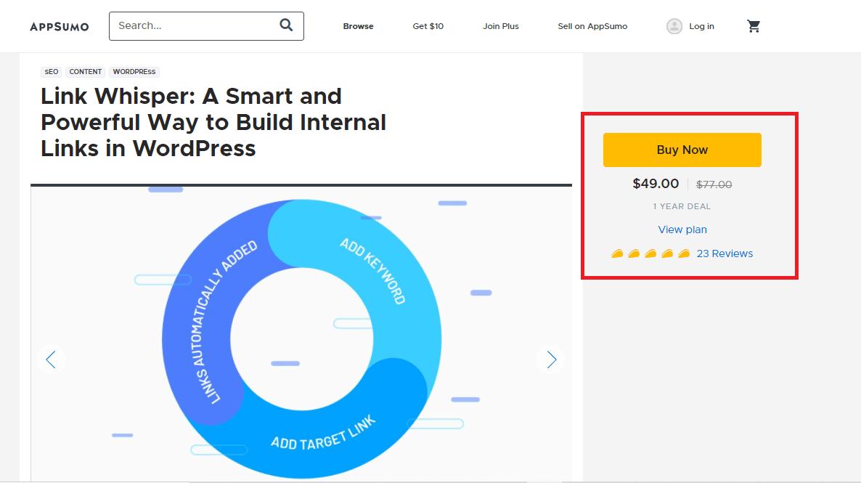 AppSumo Link Whisper deal